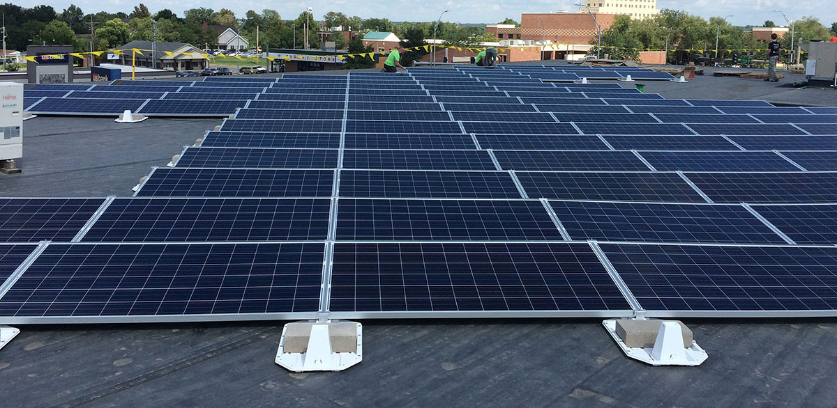 Commercial solar installation Columbia, MO