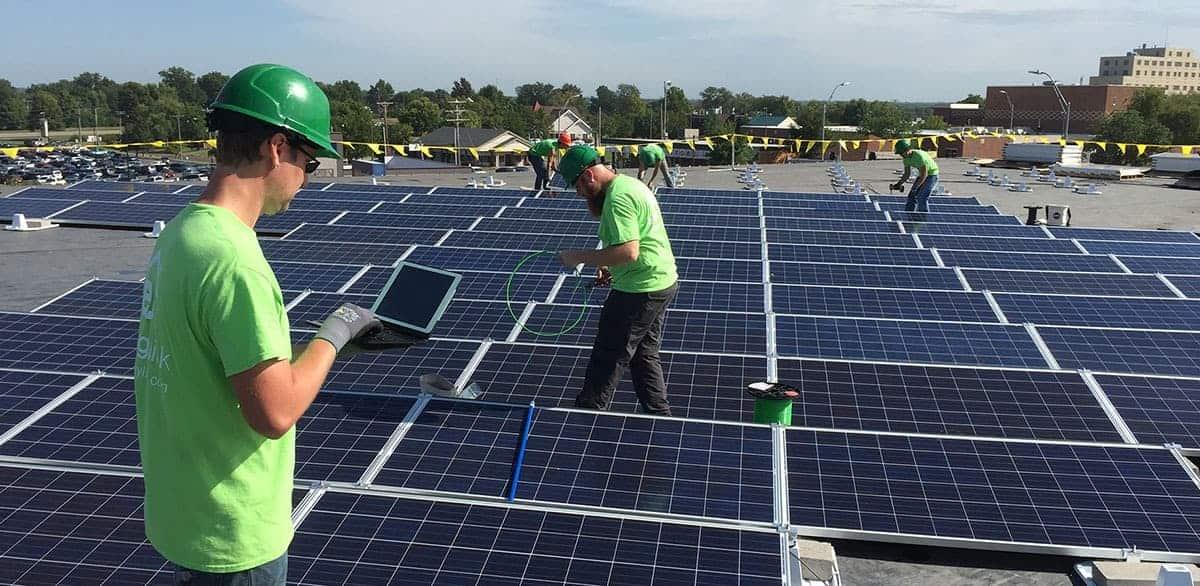 Commercial solar installation Denver, CO