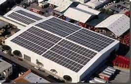 solar panels on industrial building