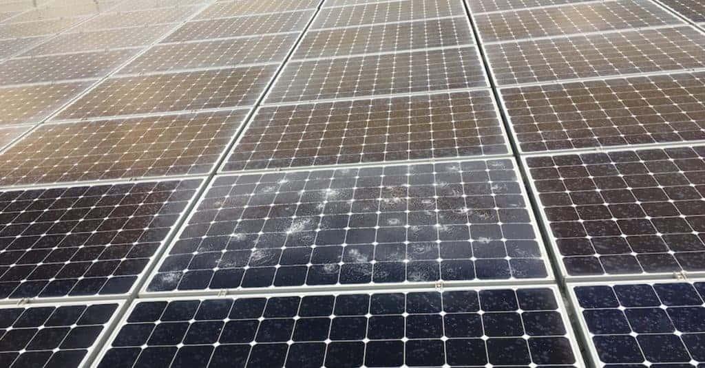 hail damage on solar panels