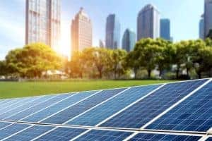 Solar panels cities