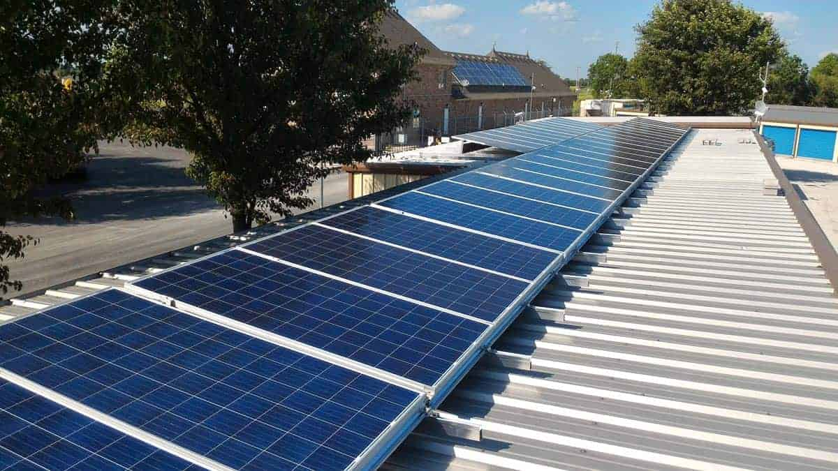 Commercial Rooftop Solar Array