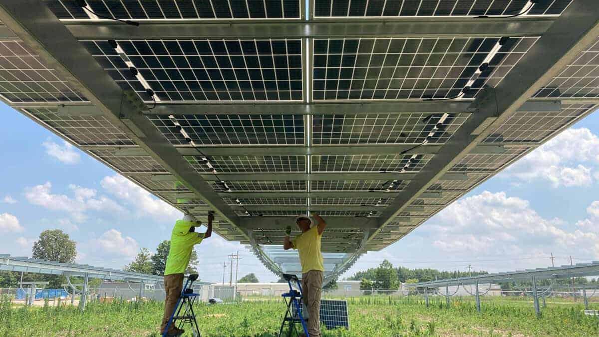 Bifacial Solar Panel Installation