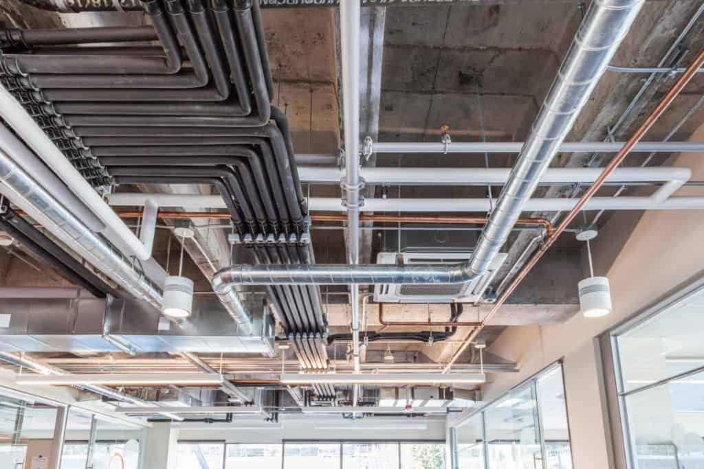 overhead pipes and hvac