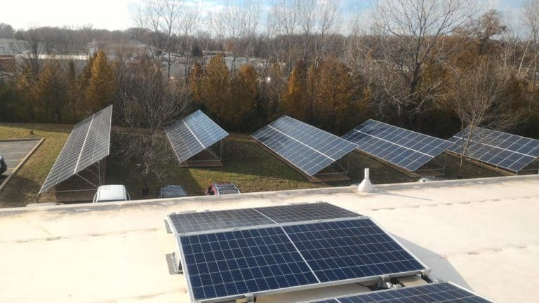 TelGaAs Inc. Case Study | Rooftop and Solar Ground Mount Install