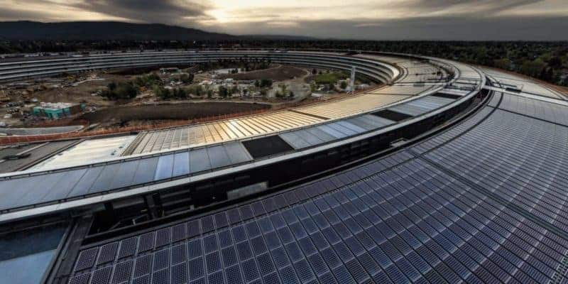 Apple Infinite Loop Building with solar on top