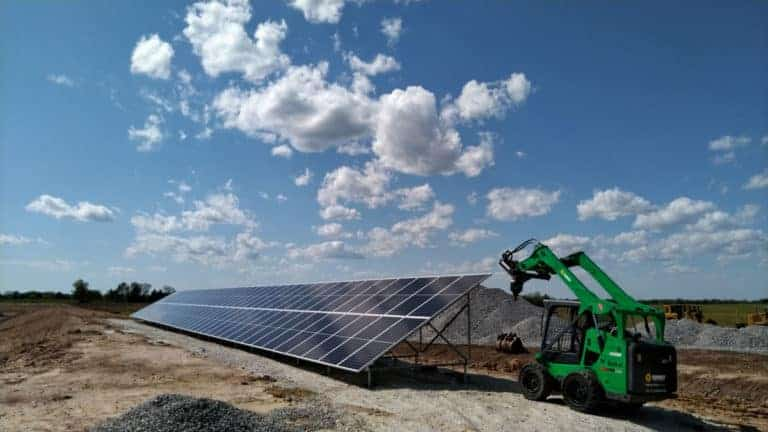 Lincoln Waste Water Treatment Plant Solar Construction
