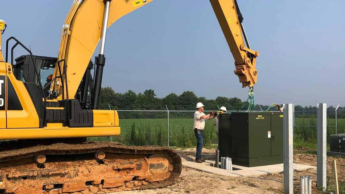 Utility Scale Transformer Install