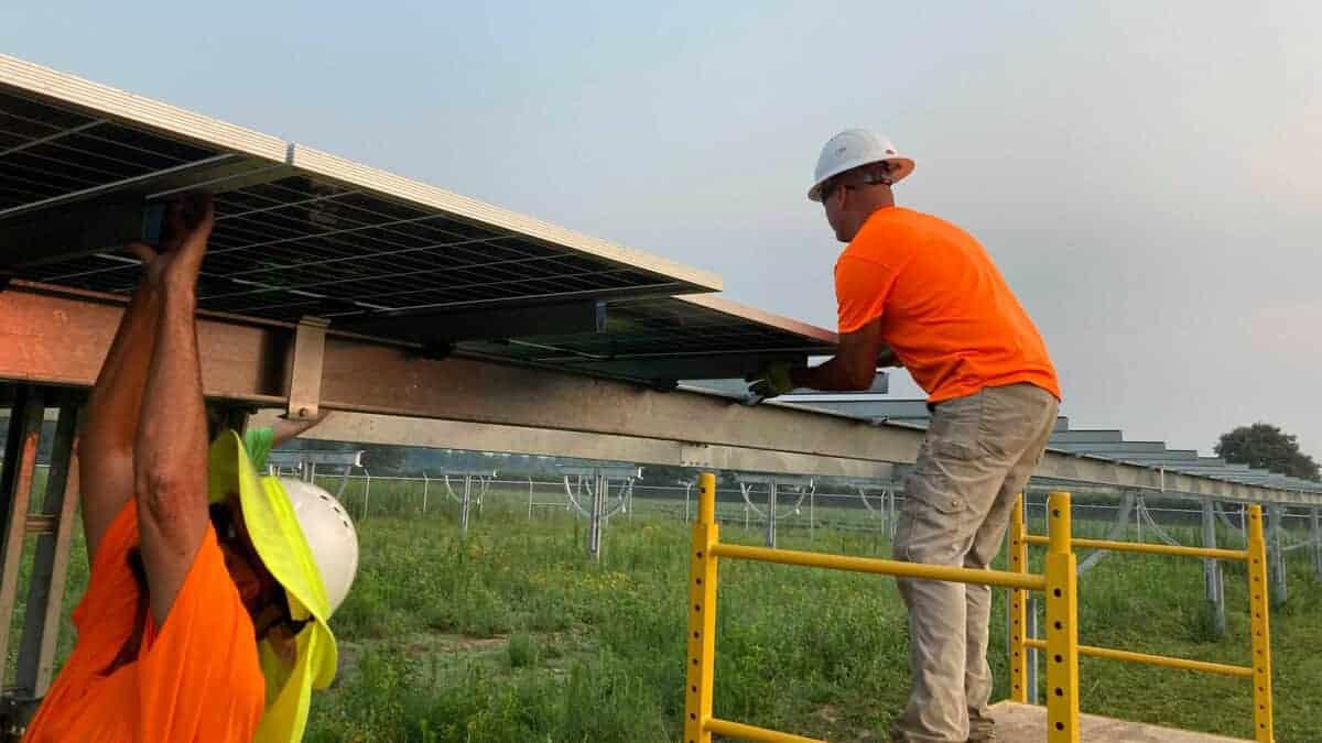 Utility Scale Solar Install
