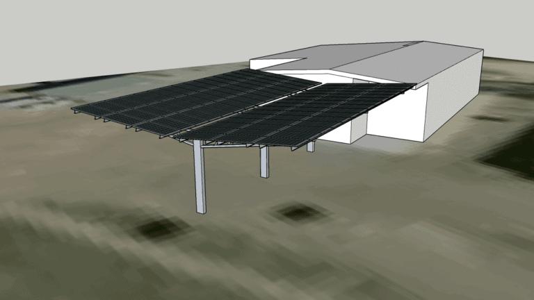 Solar carport rendering