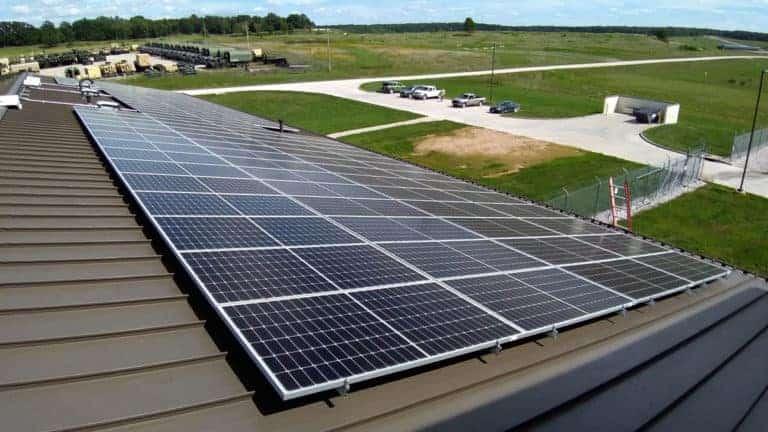 Macon - National Guard Solar Install Pic 1