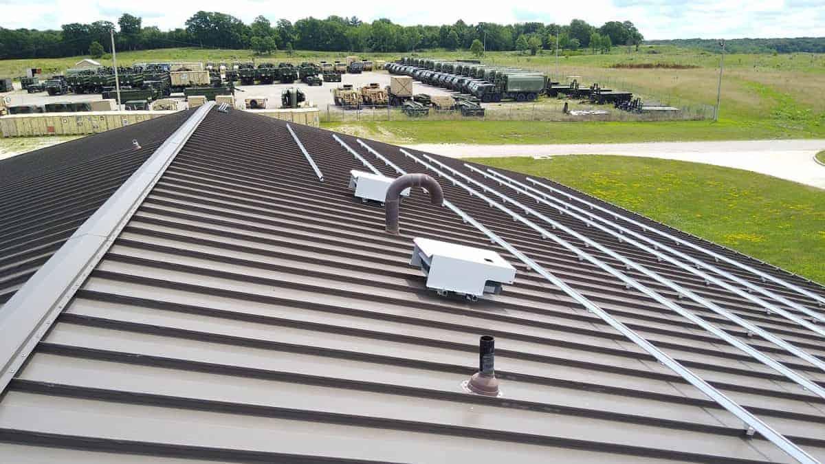 Macon - National Guard Solar Racking