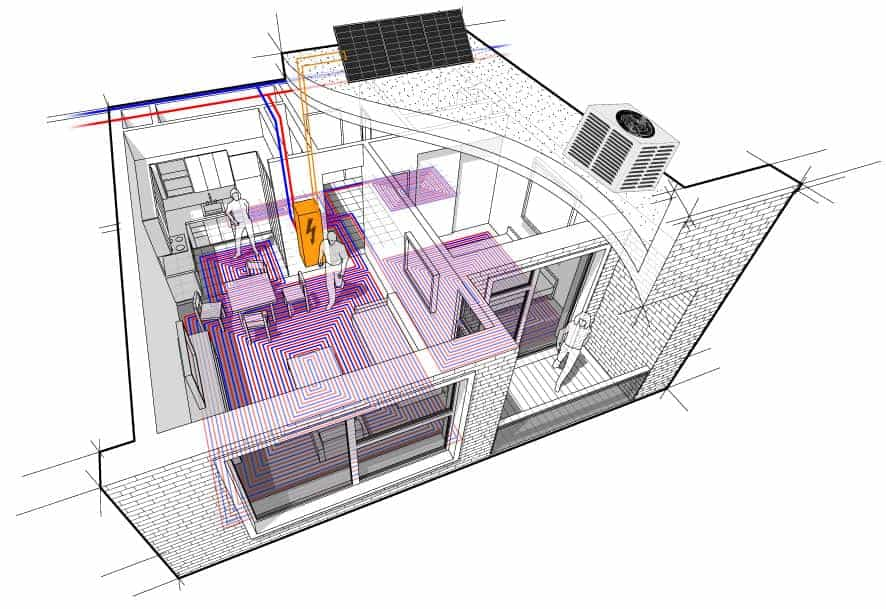 Energy System Design Diagram Created by EnergyLink for Architects