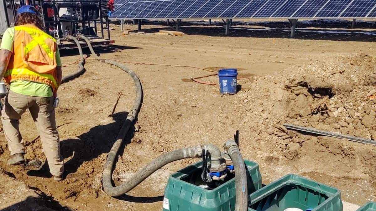 Oxford Vista Geothermal Heat Pump - Pipe Install