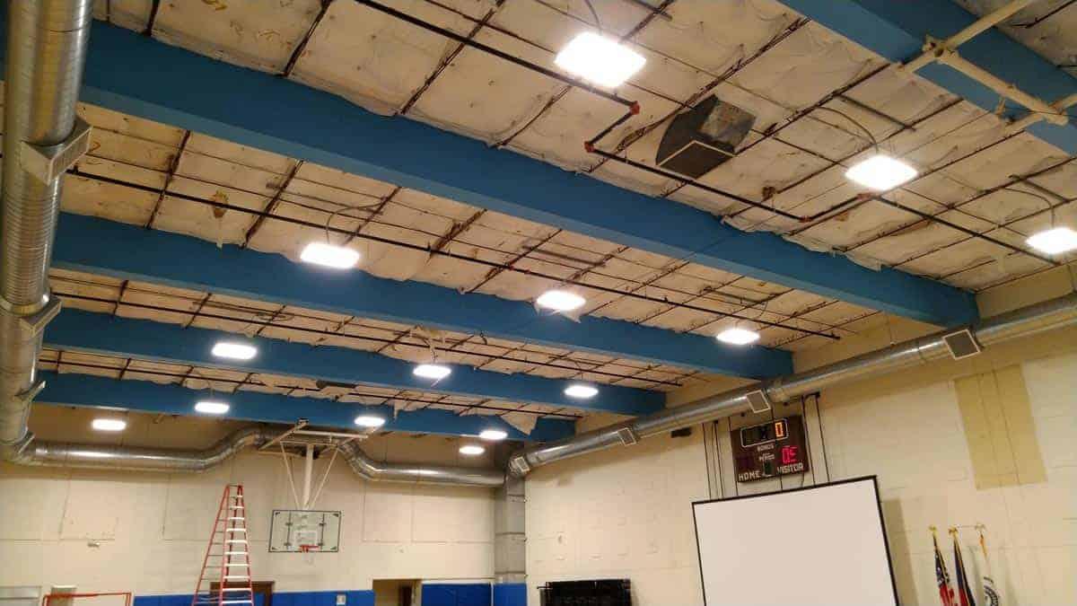 Oxford Vista LED lighting retrofit install pic 1