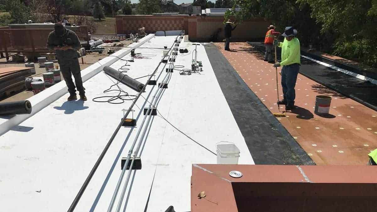 Oxford Vista Roof Replacement- White Cool Roof Installed