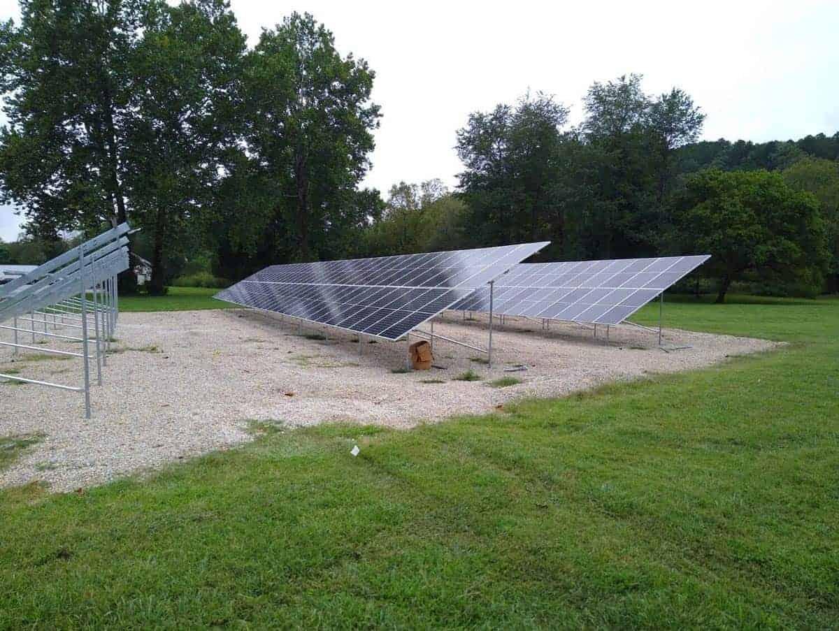 Steelville Telephone Exchange Solar Install Pic 1