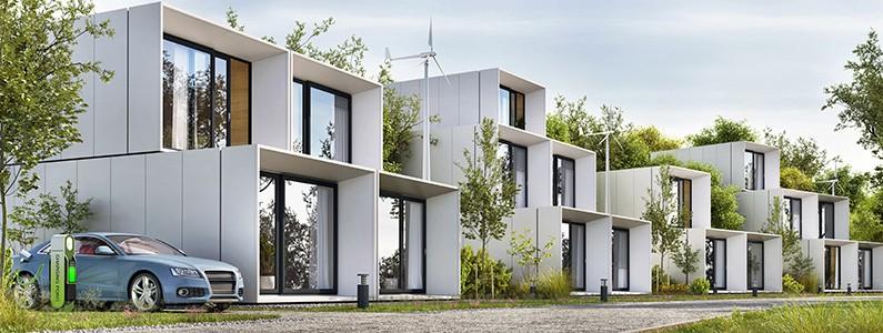Modern property with HVAC system
