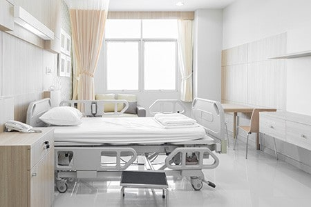 Hospital Bed with HVAC system