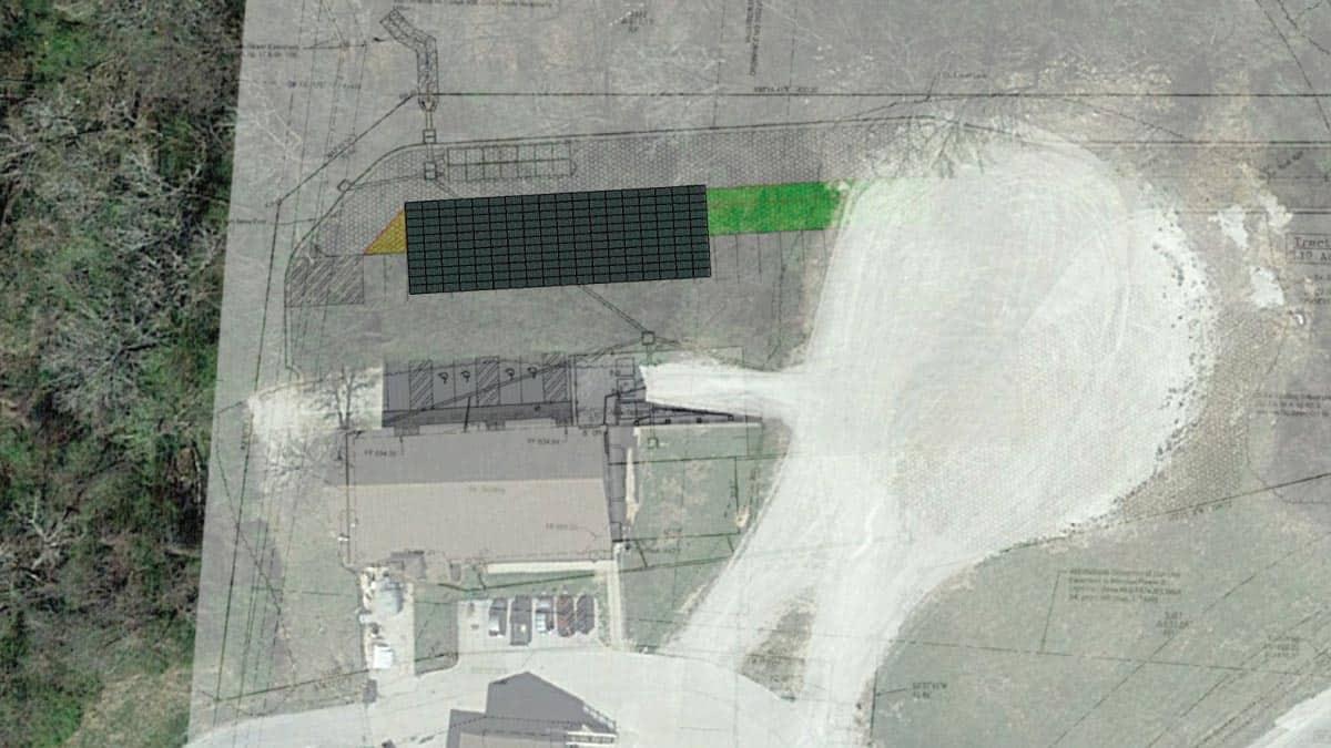 Shikles Center Solar Carport Rendering
