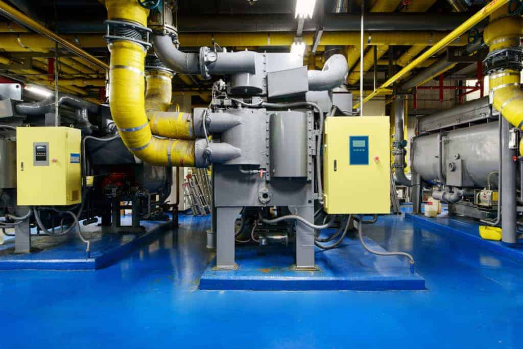 Absorption Chillers in Basement