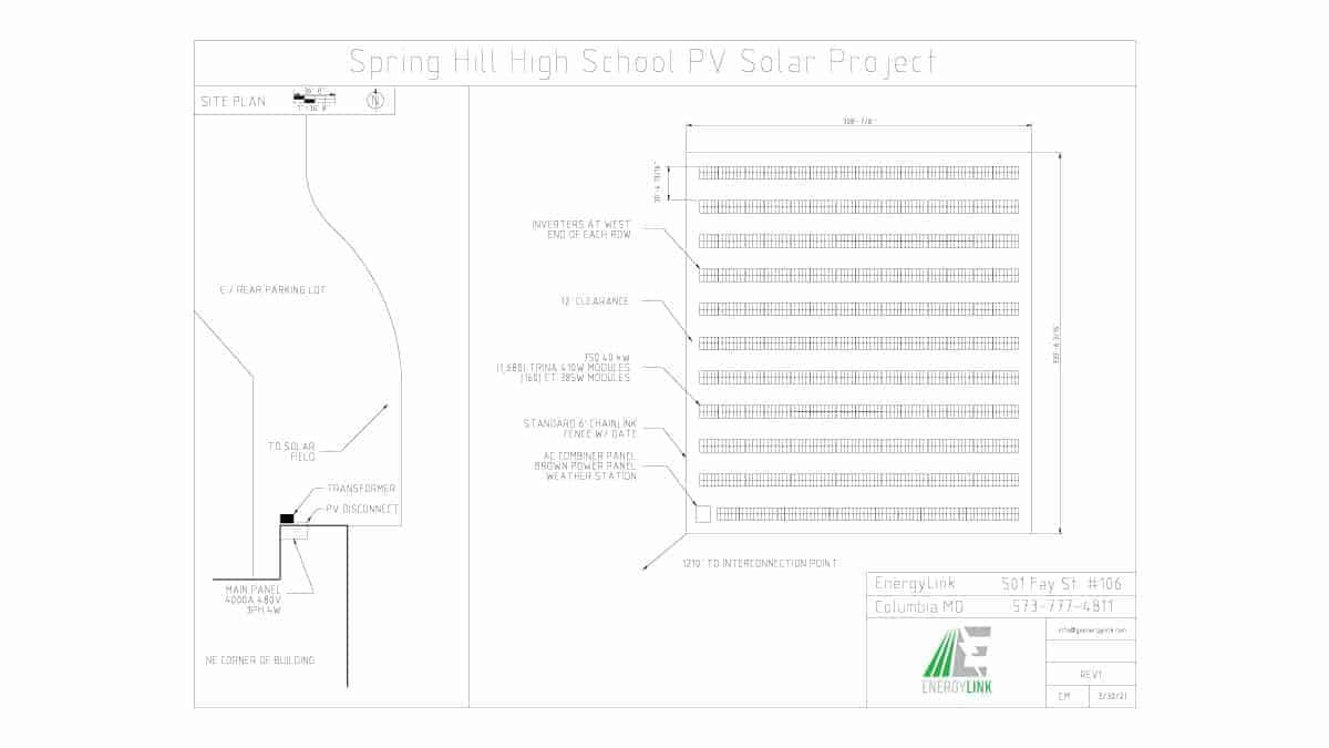 Spring Hill High School Solar Schematic Design