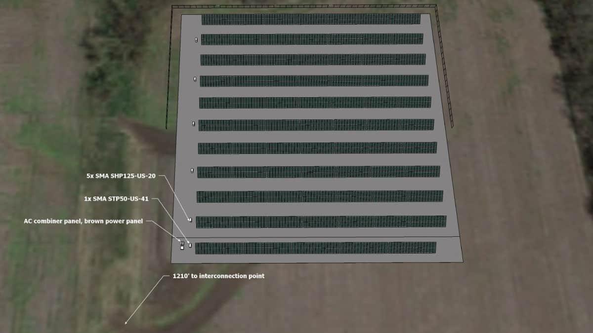 Spring Hill High School Solar Rendering 1