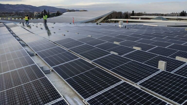 Colorado State University Lory Student Center Solar Install Pic - Solar Install Pic 1
