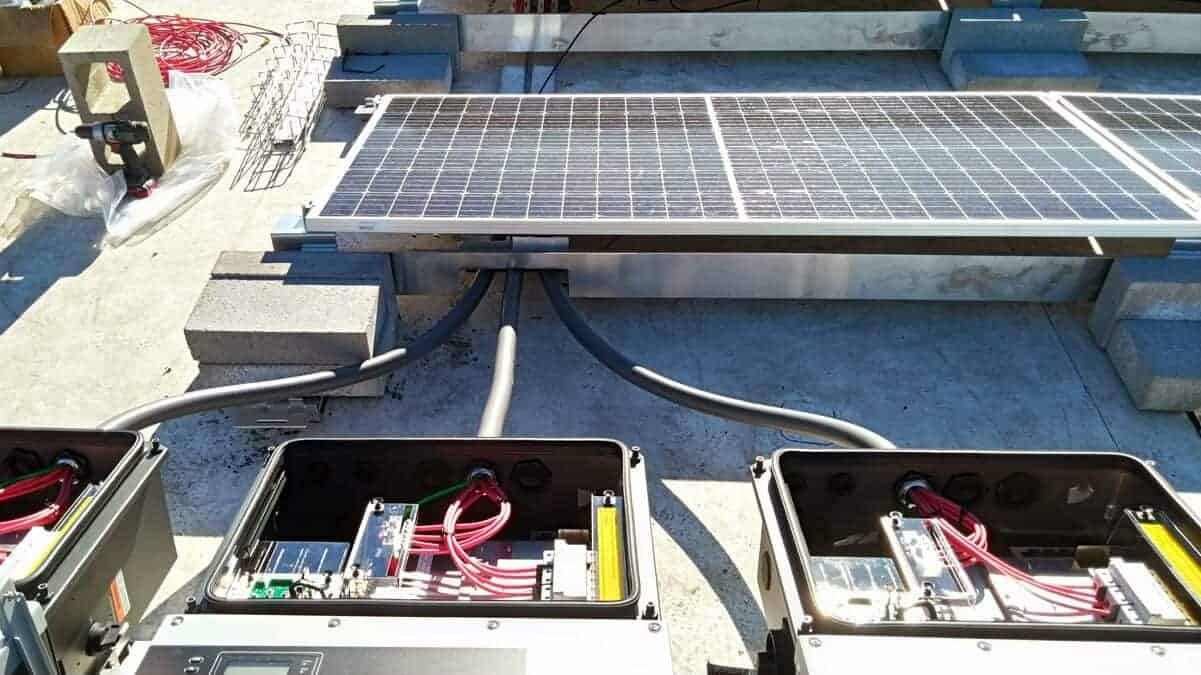 Colorado State University Lory Student Center Solar Install Pic - Solar Wiring