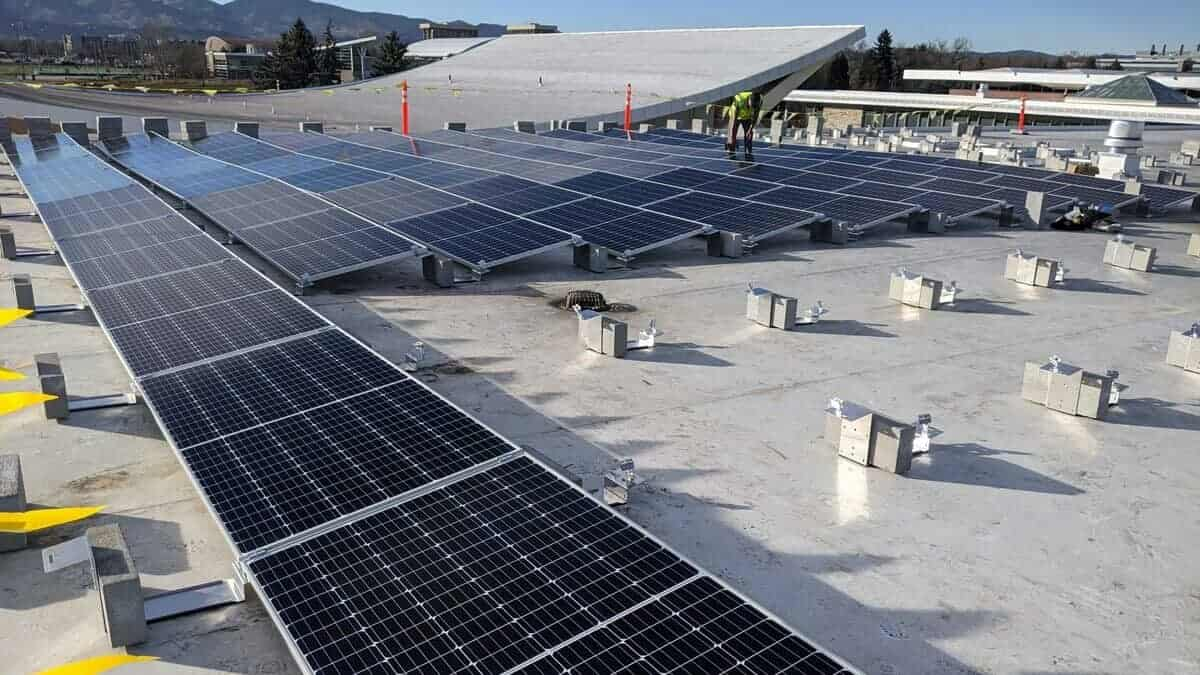 Colorado State University Lory Student Center Solar Install Pic - Solar Install Pic 3