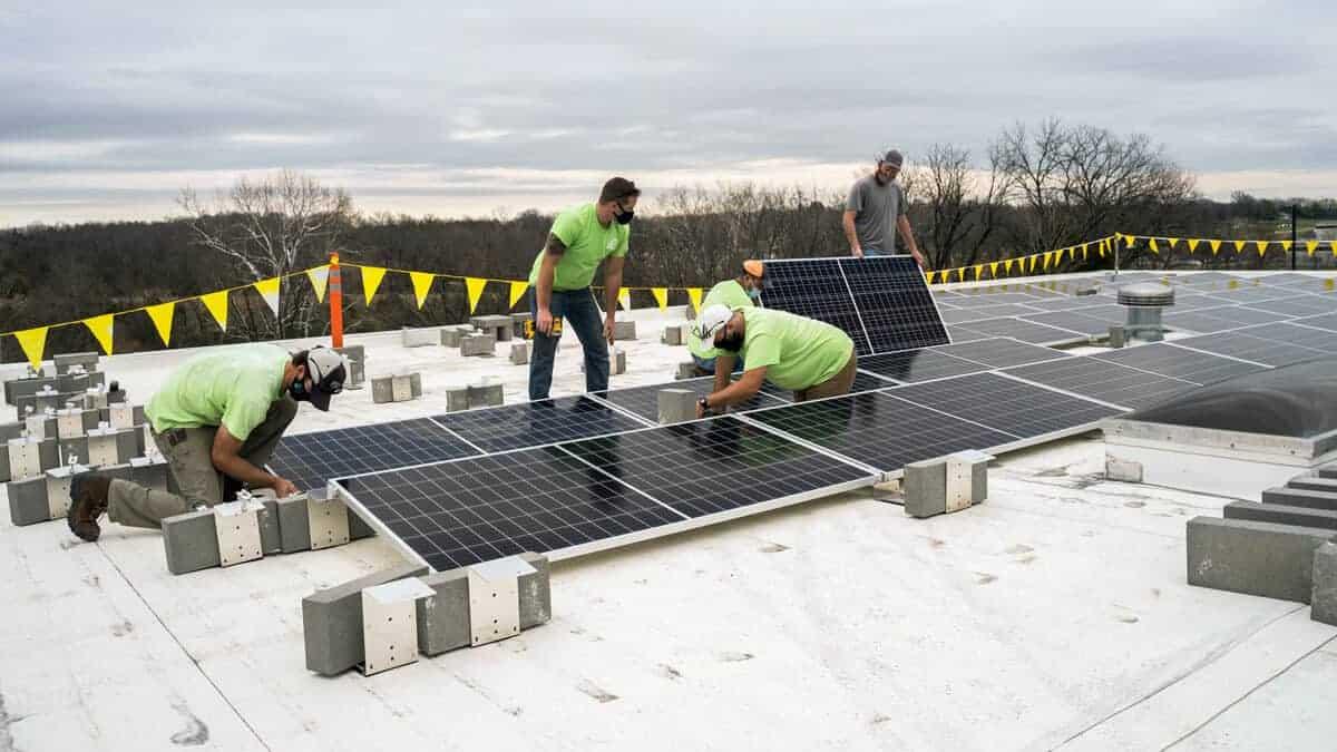 FairCom Solar Installation Pic 1