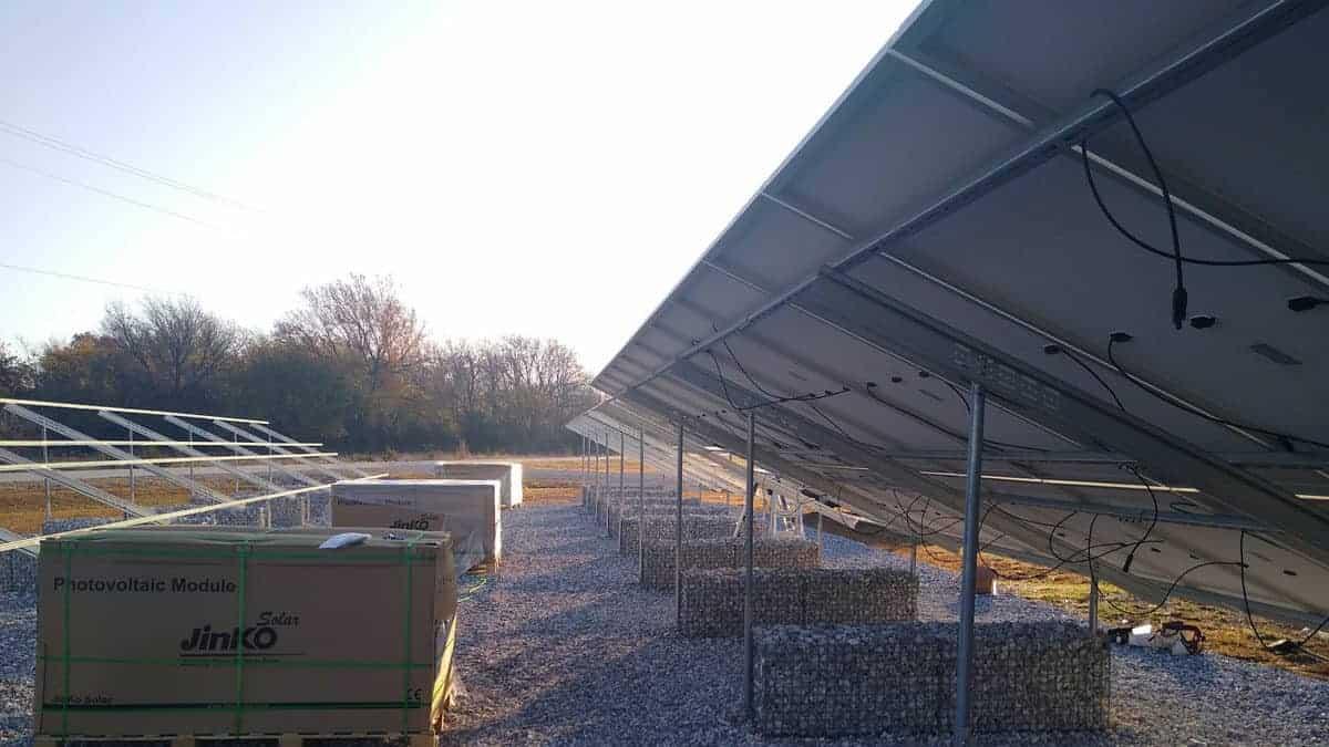 Missouri National Guard Camp Crowder Solar Install Pic 1
