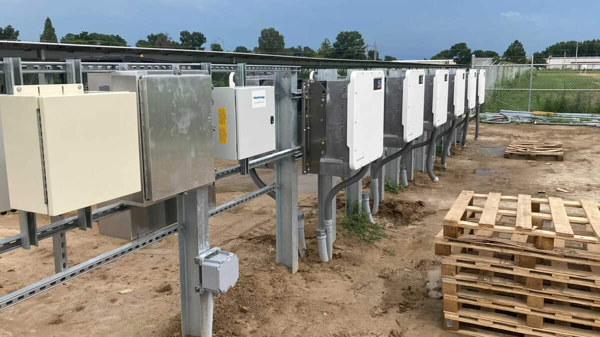 Utility Scale Solar Inverter Install