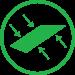 Bifacial solar panels icon